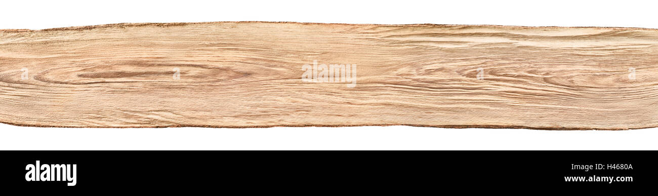 Rustic Background Banner A Nice Long Untreated Wood Board From Beech Tree Isolated On White