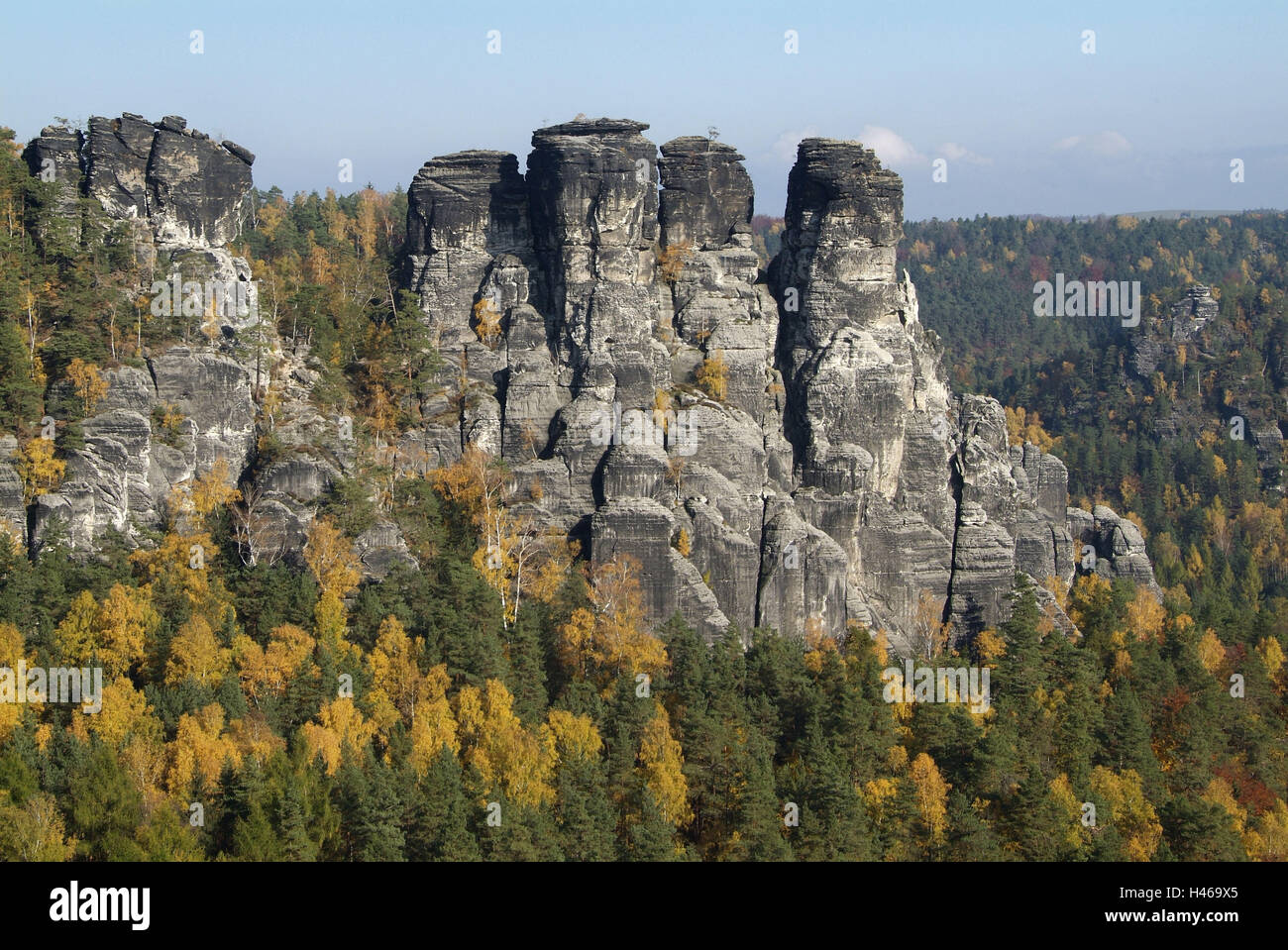 Germany, Saxony, Elbsandsteingebirge, bastion, Saxon Switzerland - Stock Image