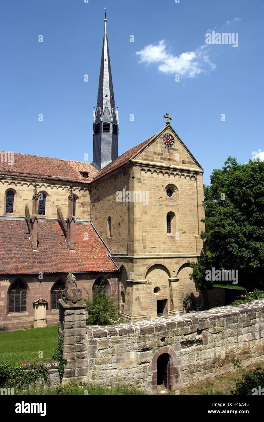 Germany, Baden-Wurttemberg, Enzkreis, Maulbronn, cloister, church, Stock Photo