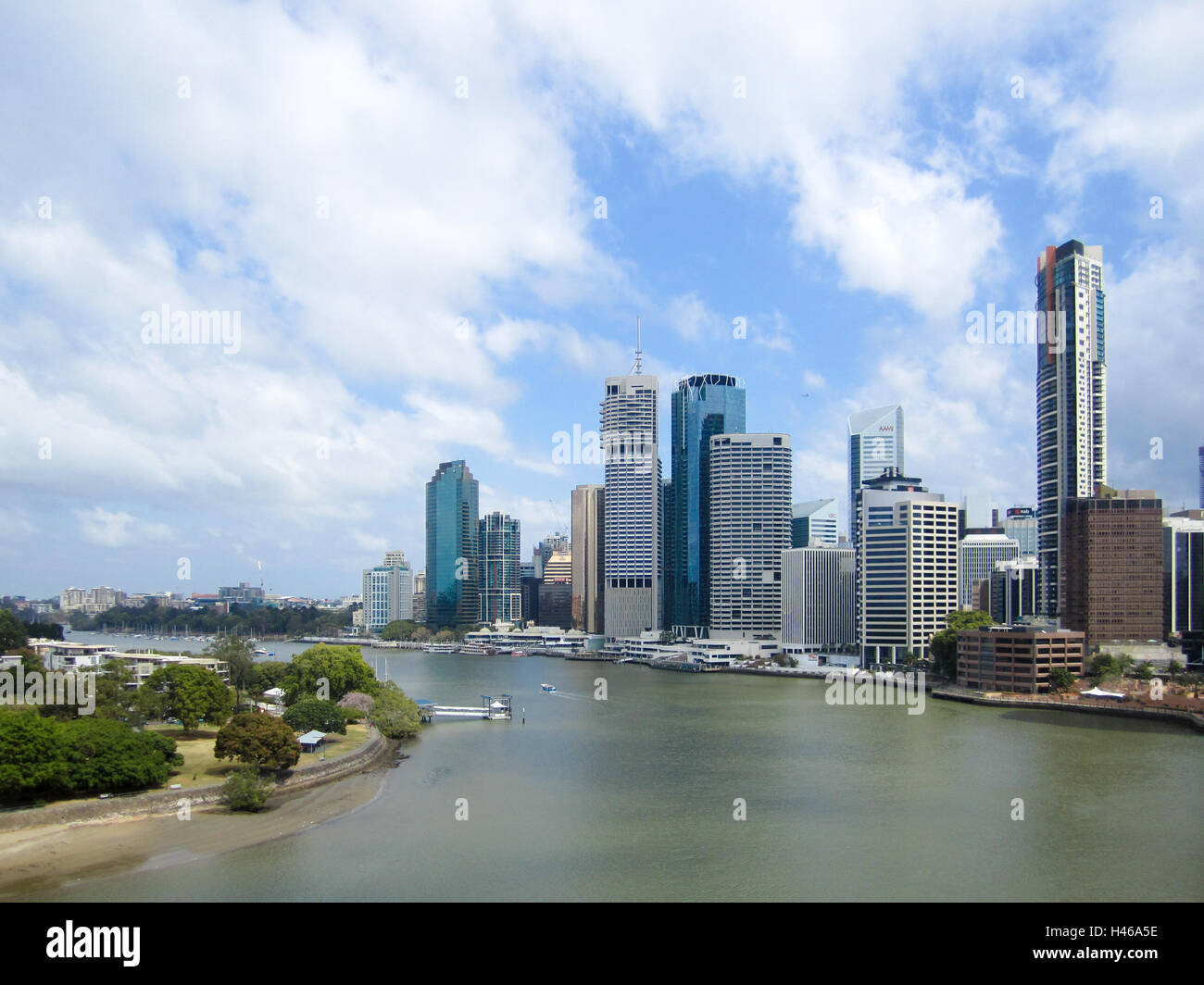 Brisbane business district, overlooking the meandering Brisbane River, Queensland, Australia. - Stock Image