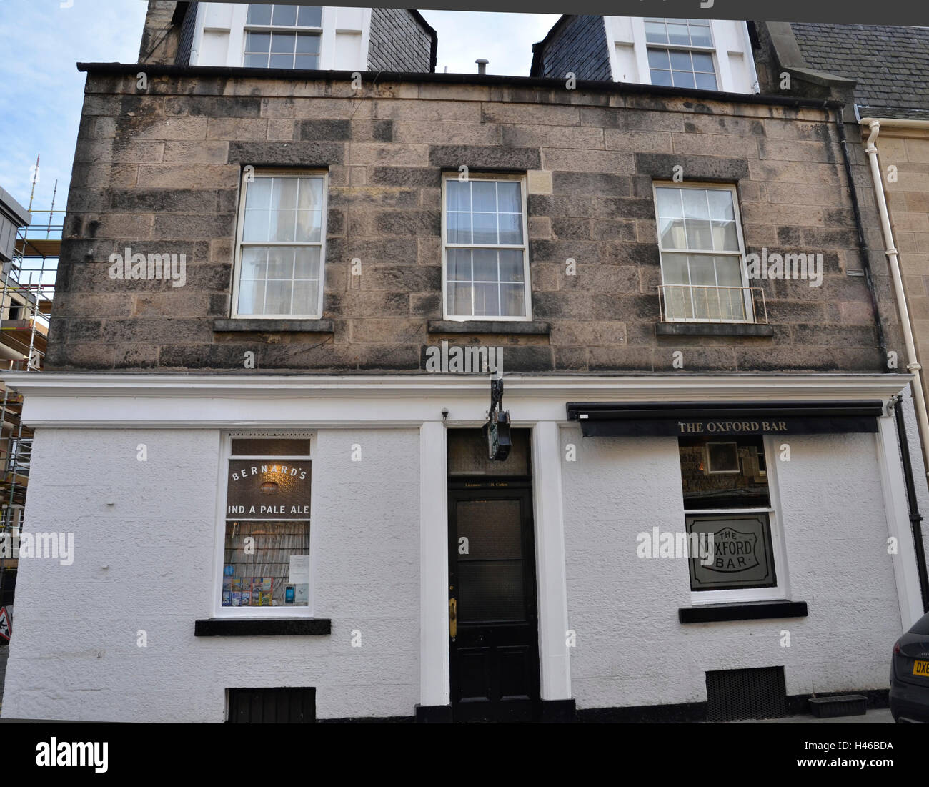 The Oxford Bar in Young Street, Edinburgh. - Stock Image