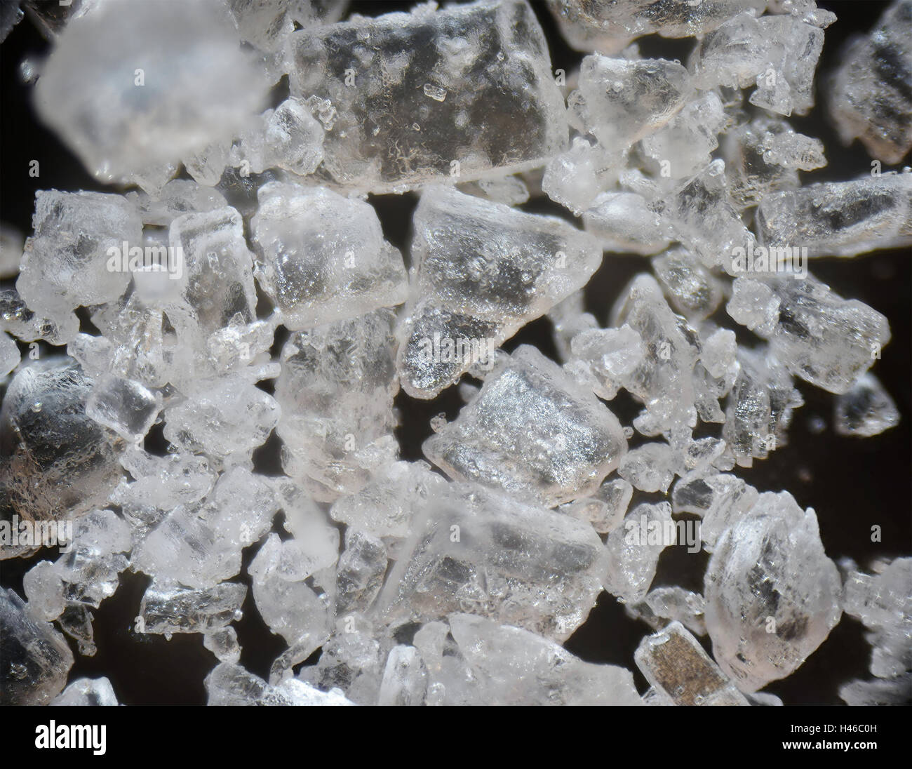 Microscopic photography of salt - Stock Image