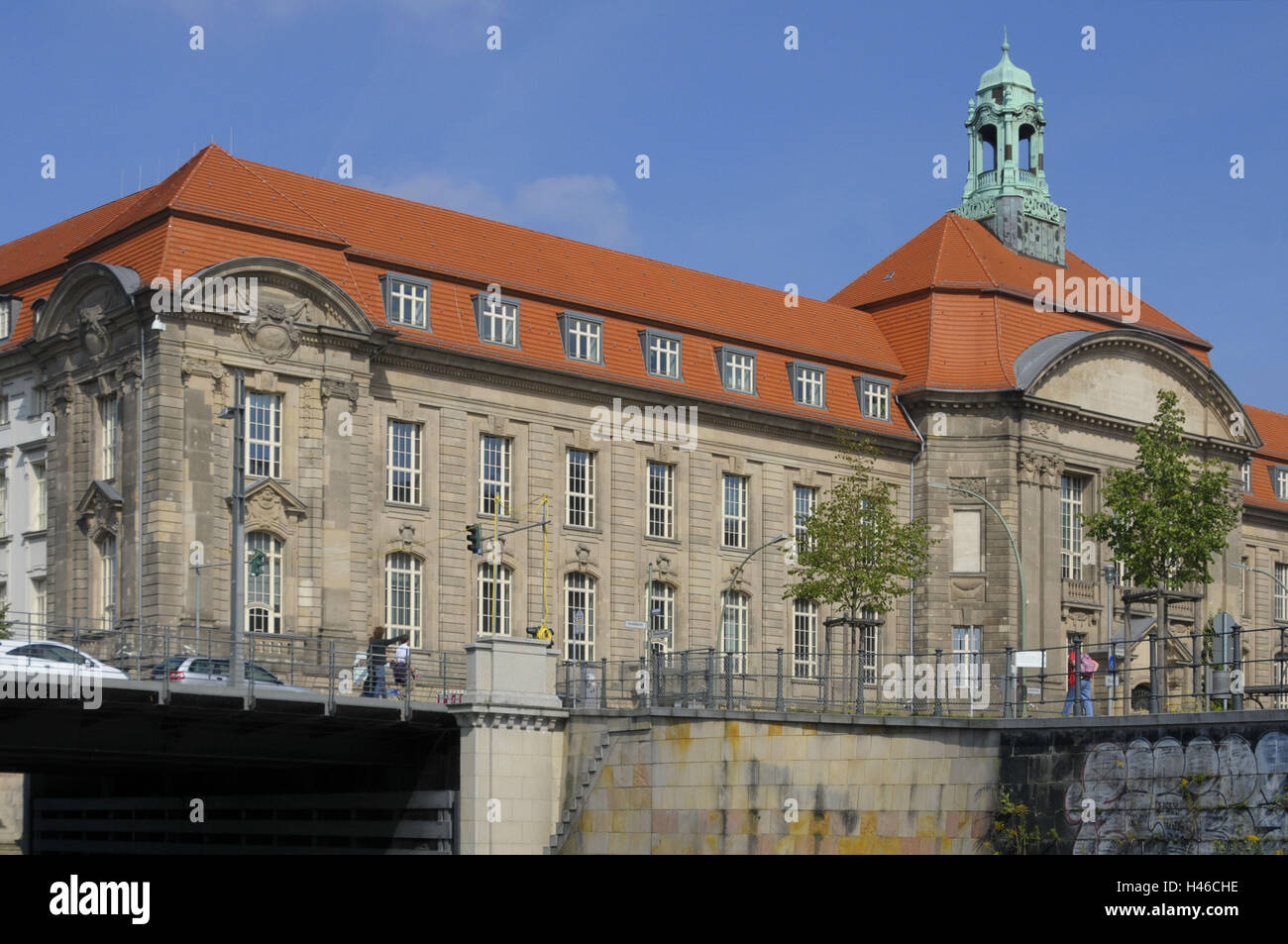 Sand's jug bridge, Invalidenstrasse, Friedrich's Wilhelm town, ministry, Berlin-splinter duration navigation - Stock Image