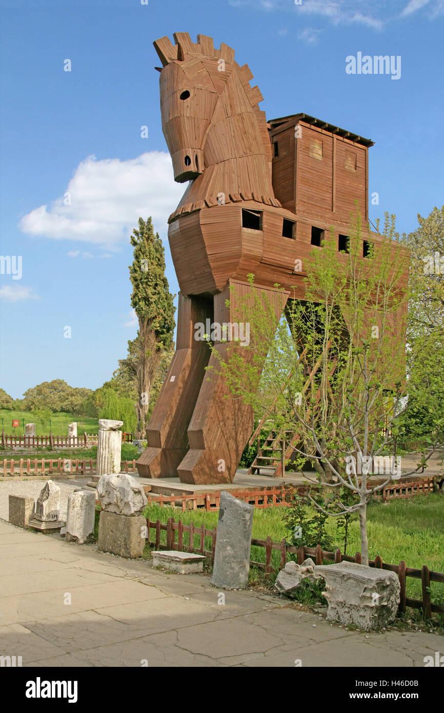 Turkey, Troy, Trojan horse, wooden horse, horse, model