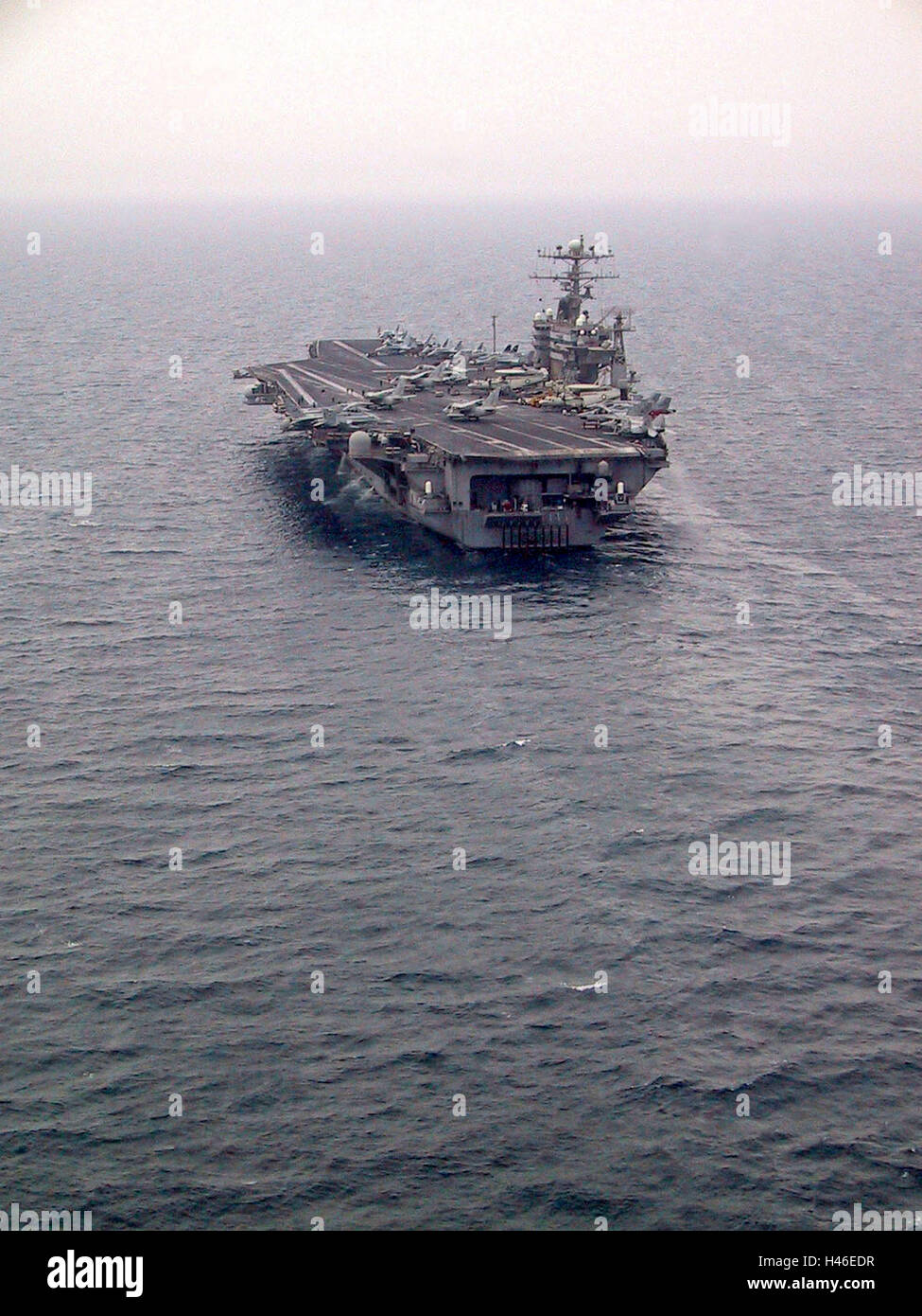 25th March 2003 Operation Iraqi Freedom: the USS Abraham Lincoln during flight operations in the Persian Gulf. - Stock Image