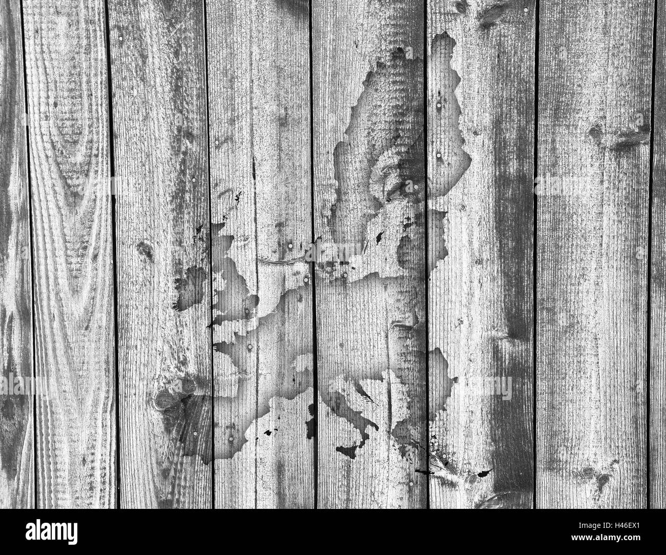 Map of the EU on weathered wood - Stock Image