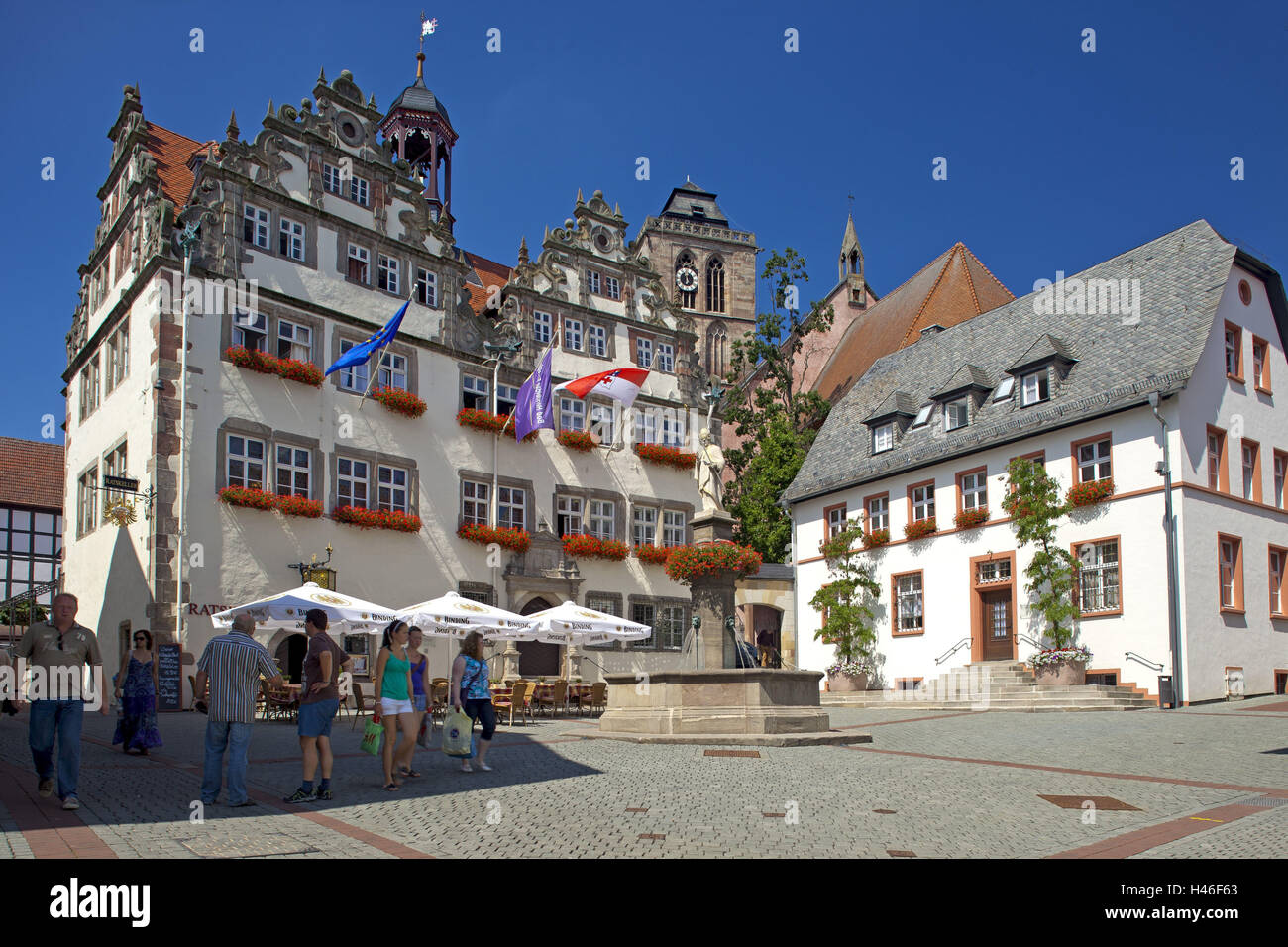 germany hessen northern hessen bad hersfeld old town city hall stock photo 123074843 alamy. Black Bedroom Furniture Sets. Home Design Ideas