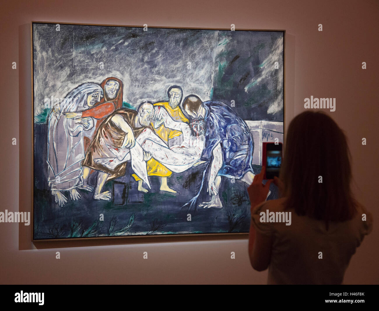 London, UK. 13 October 2016. Pictured: The Deposition, 1963, by Francis Newton Souza, est. GBP 400,000-600,000. - Stock Image
