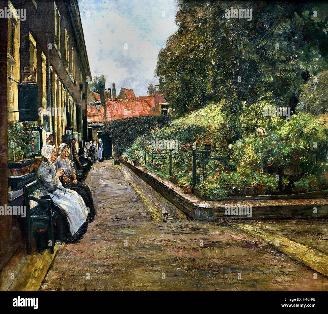 Stevenstift (Stevens Hofje - Stevens almshouses in Leiden Netherlands )  MAX LIEBERMANN (1847-1935) German Germany - Stock Image
