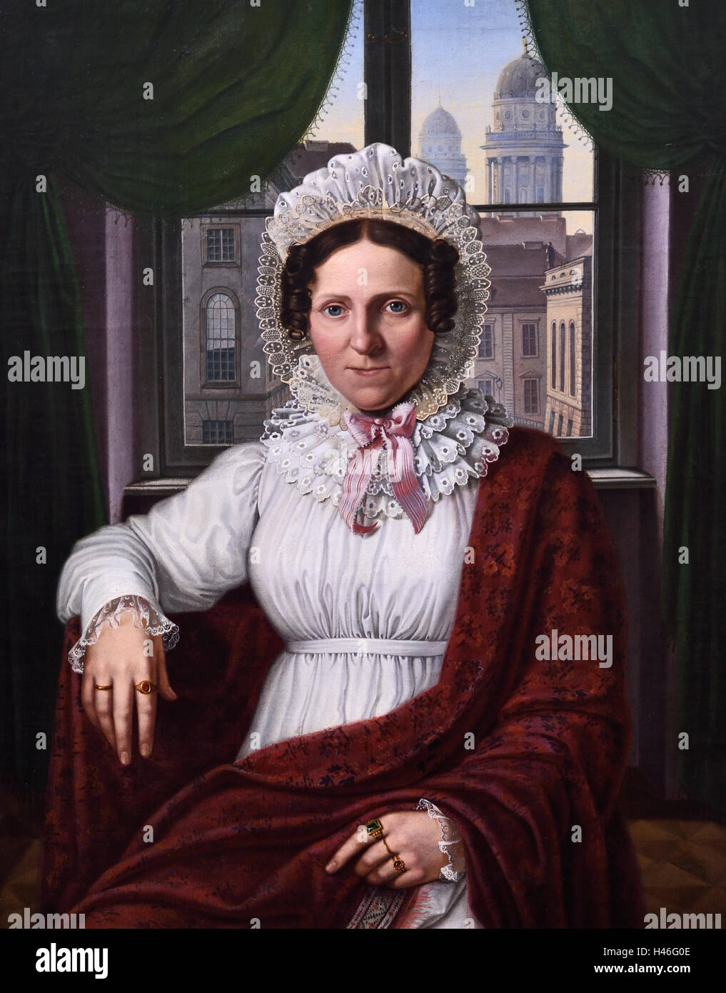 Mrs Luise Mila 1810 Johann Erdmann Hummel 1769-1852 German Germany - Stock Image