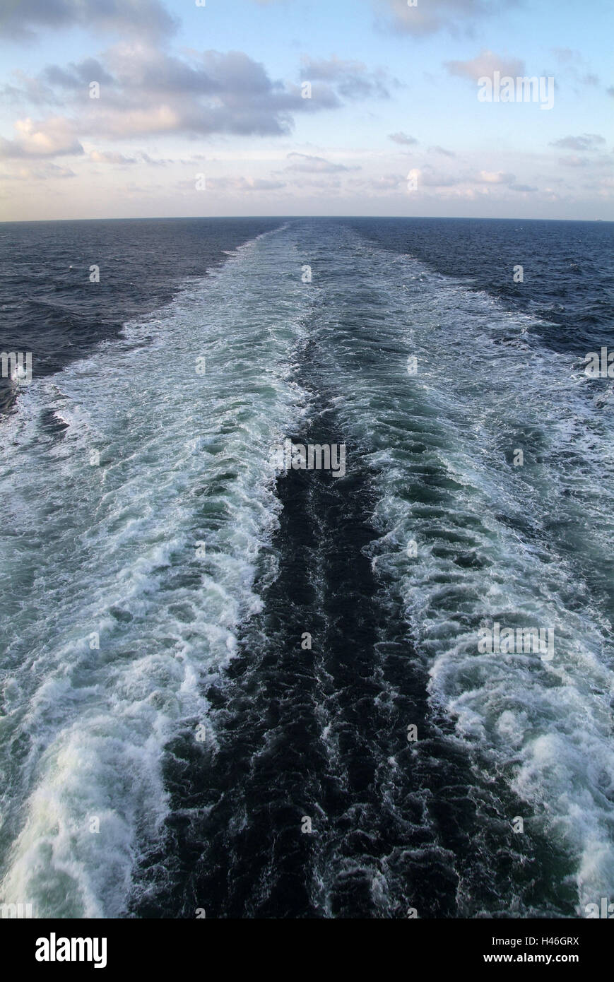 Ship, stern, sea, wake, Stock Photo