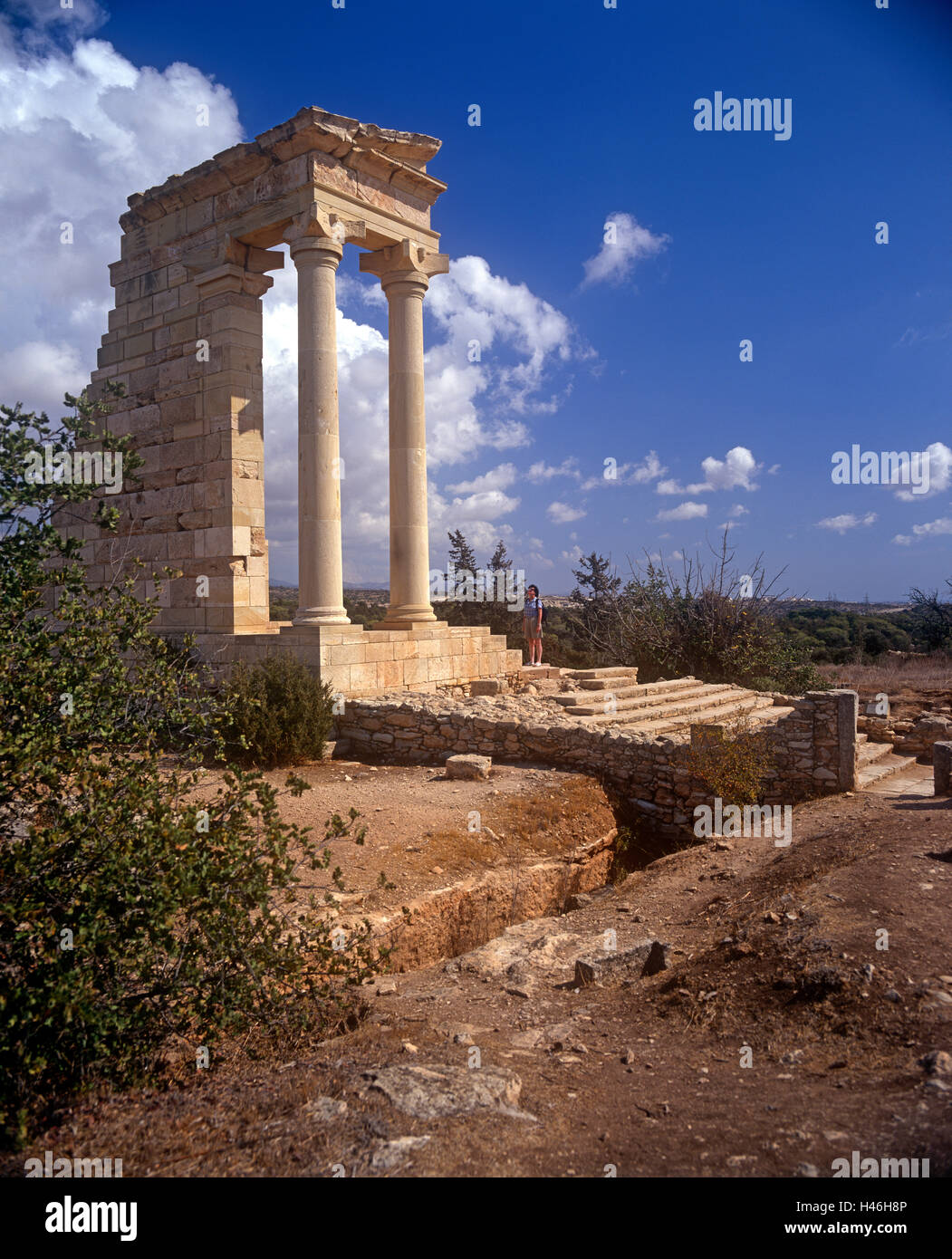 Ruins of Temple Apollo Limassol Cyprus - Stock Image