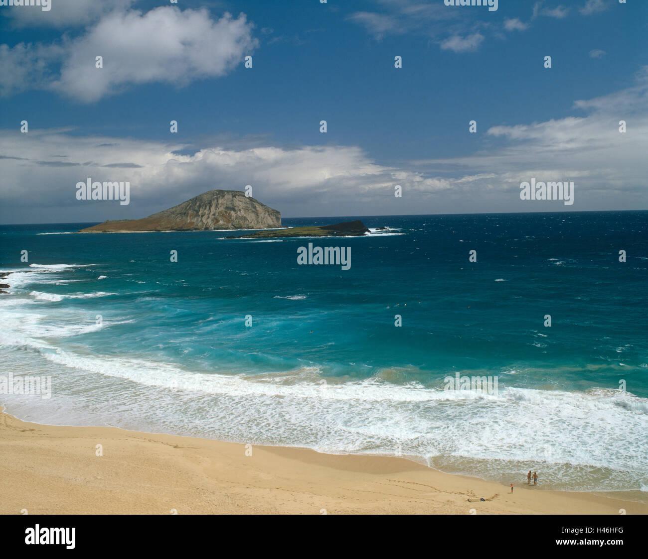 Beach scene - Stock Image