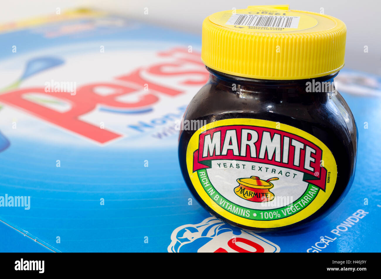 Marmite persil unilever lever brothers products - Stock Image