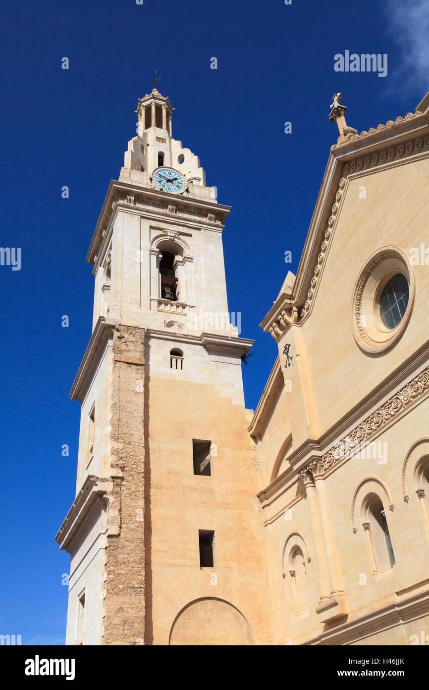 Bell Tower of the Colegiata Basilica de Santa Maria in Xativa Spain - Stock Image