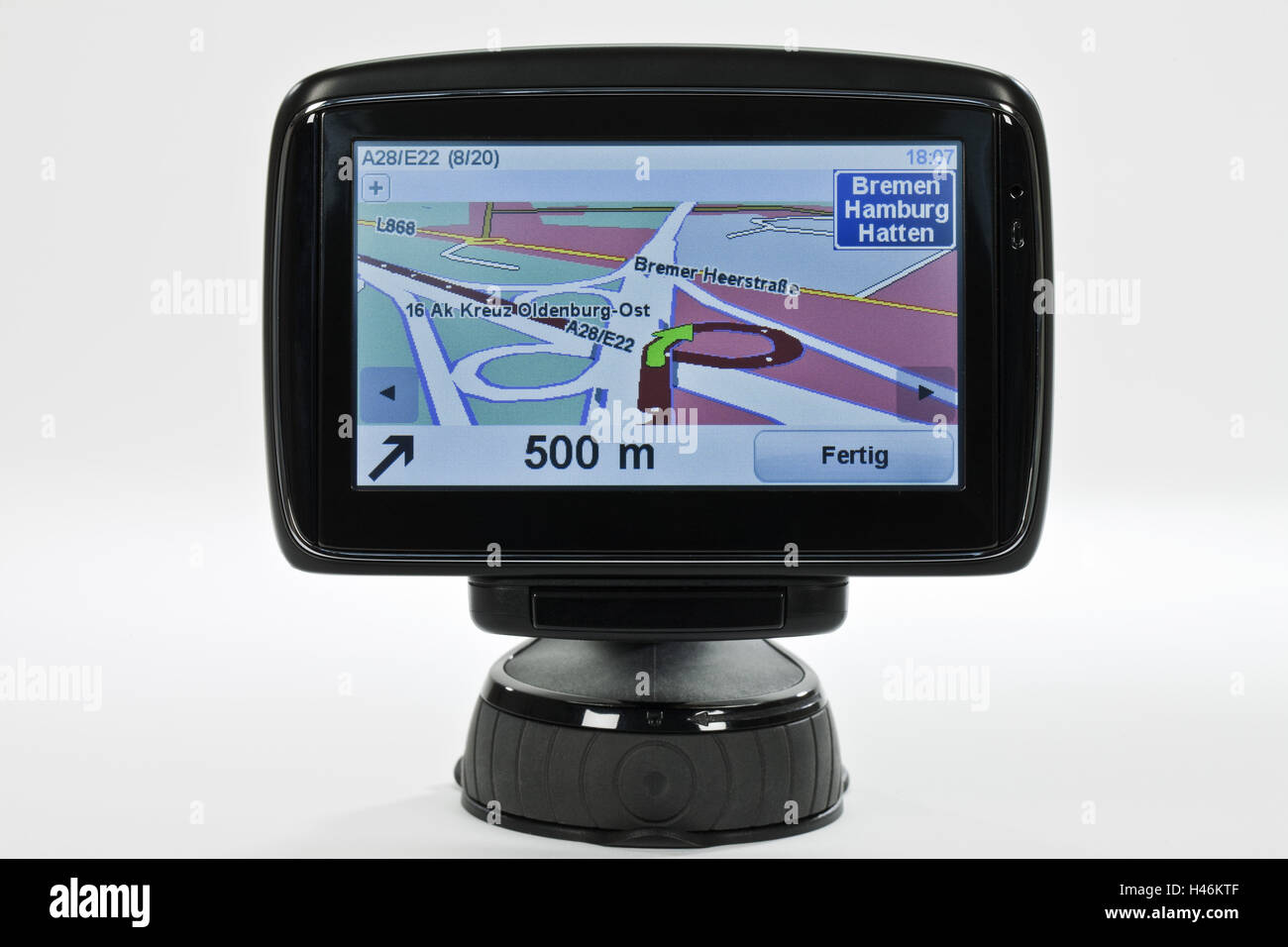 Navigation system, cut out, - Stock Image
