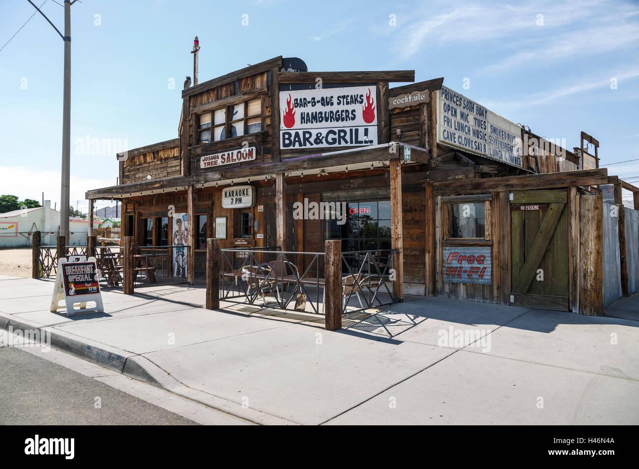 Restaurant In Joshua Tree Mojave Desert California Usa Stock