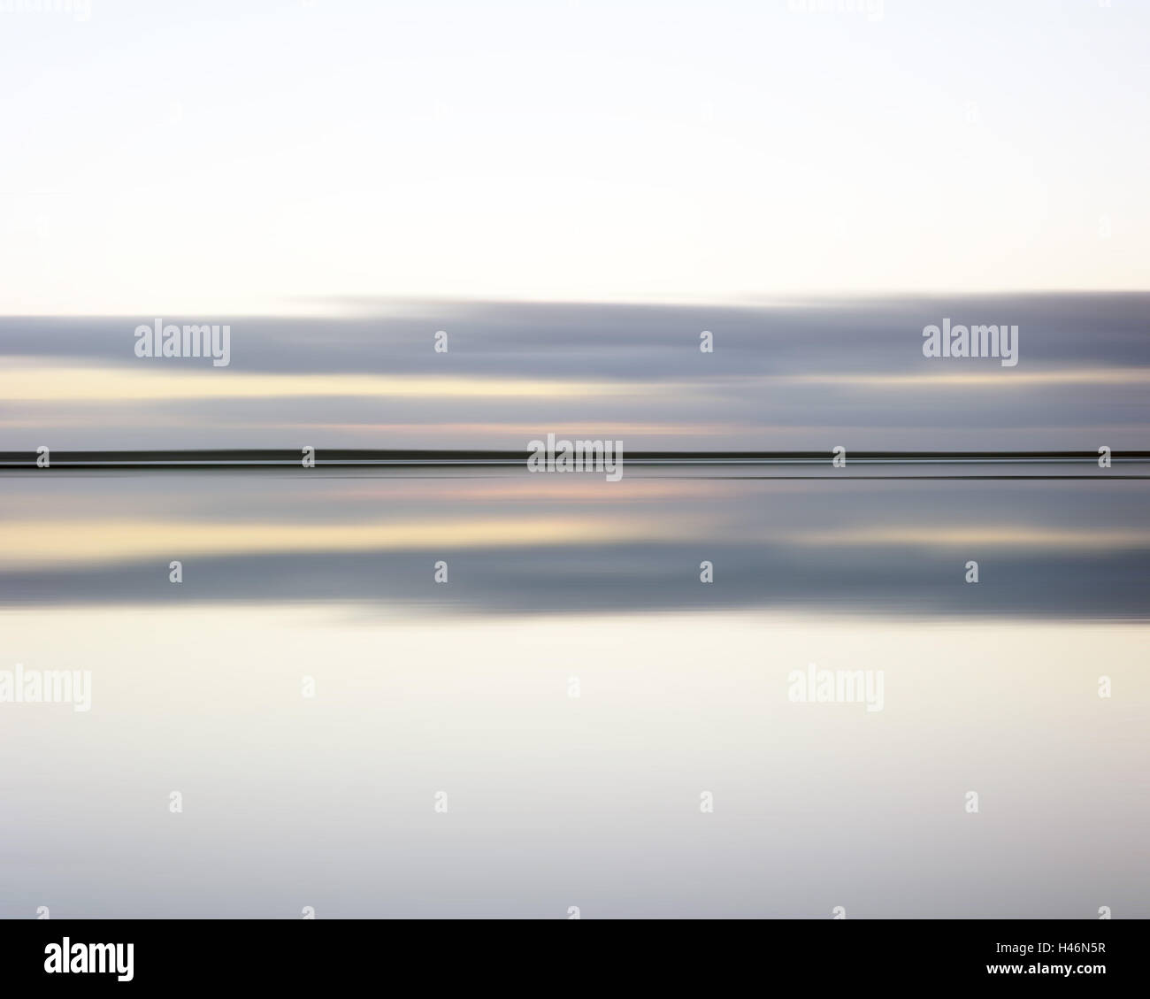 The North Sea, windless, heaven, clouds, horizon, - Stock Image