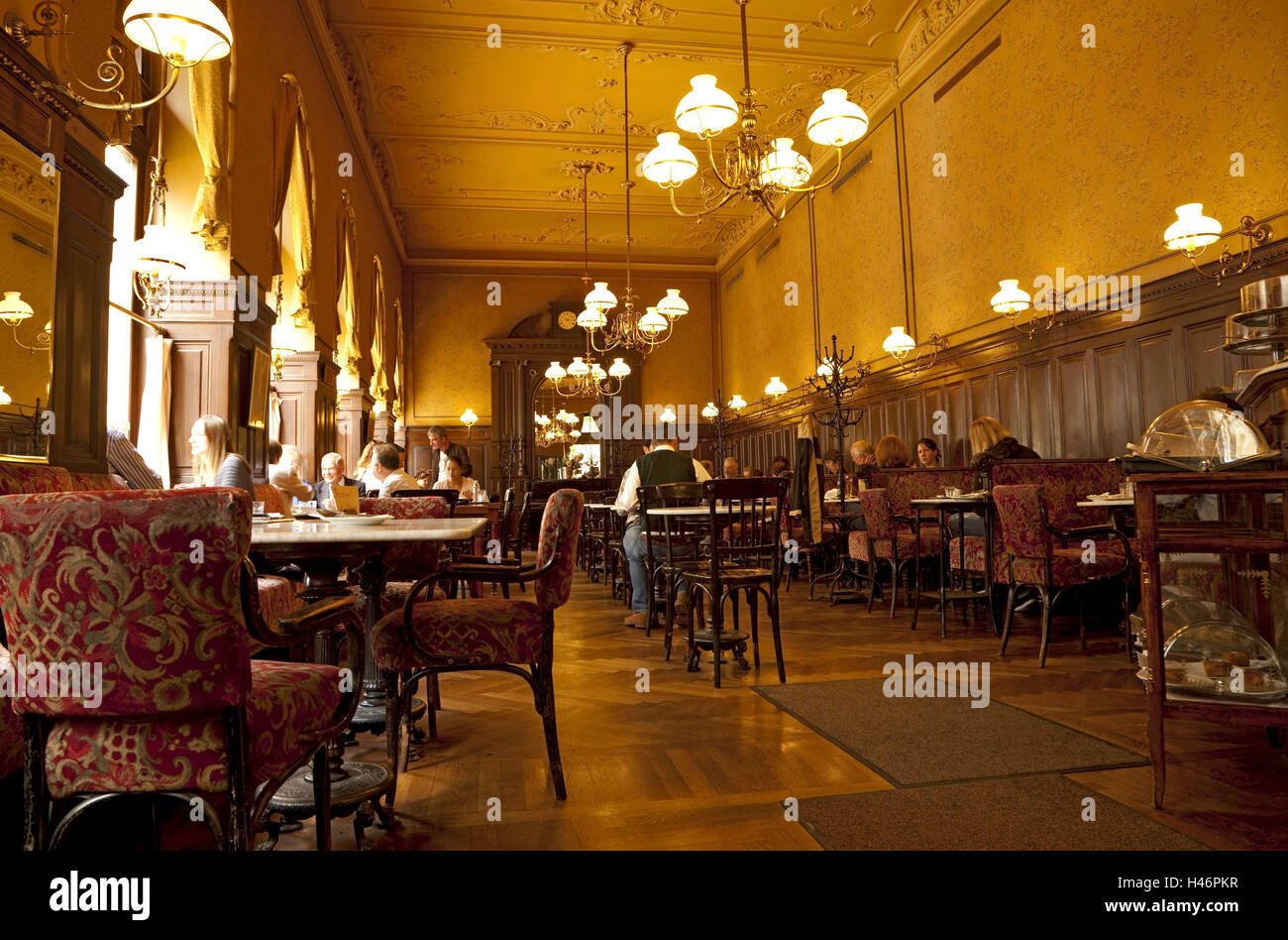 Cafe interior chandelier guests cafe culture gastronomy stock cafe interior chandelier guests cafe culture gastronomy historical travel destinations indoors restaurant sperl tradition europe austria arubaitofo Gallery