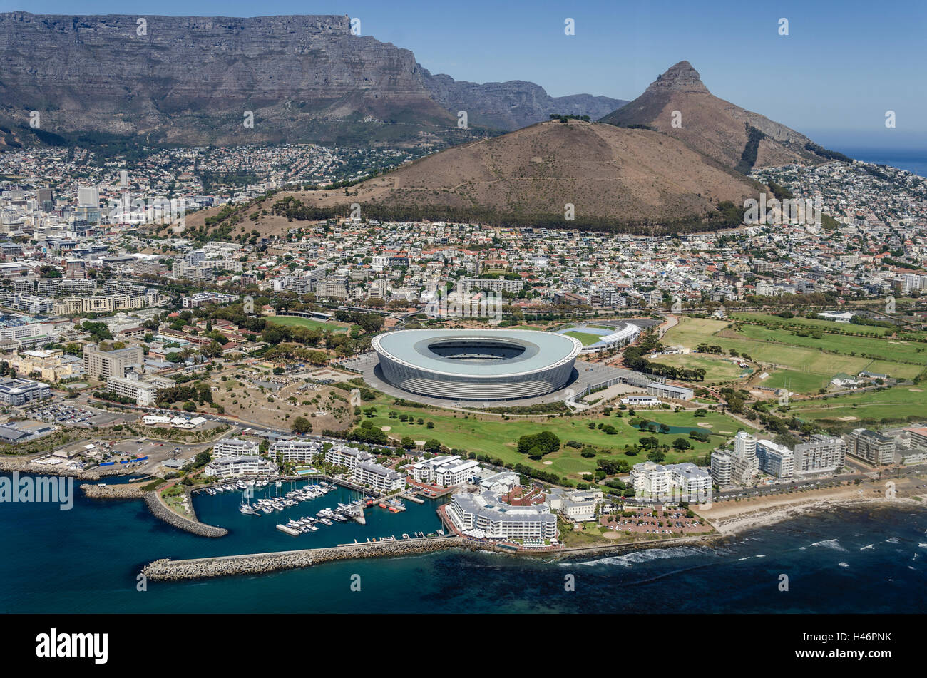 Aerial View, Cape Town, Western Cape, South Africa, Africa - Stock Image