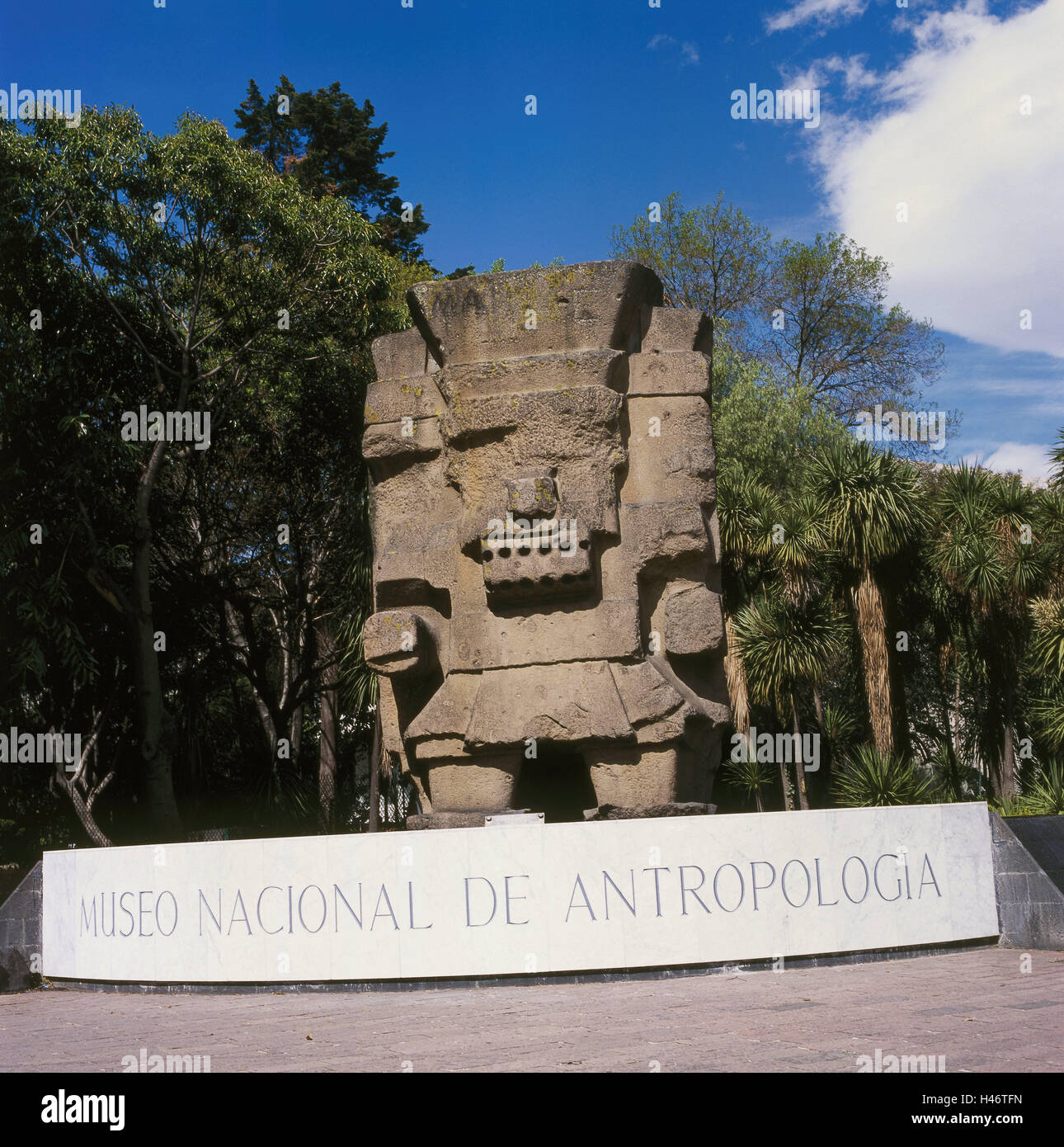Mexico, Mexico town, anthropological national museum, stone figure, Central America, Central America, town, capital, - Stock Image
