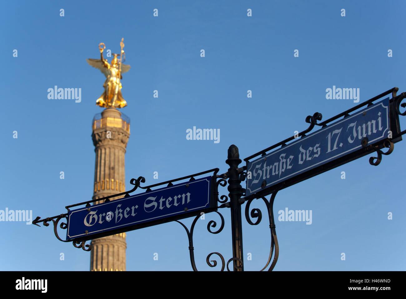 Berlin-Tiergarten, Großer Stern, Victory Column, - Stock Image