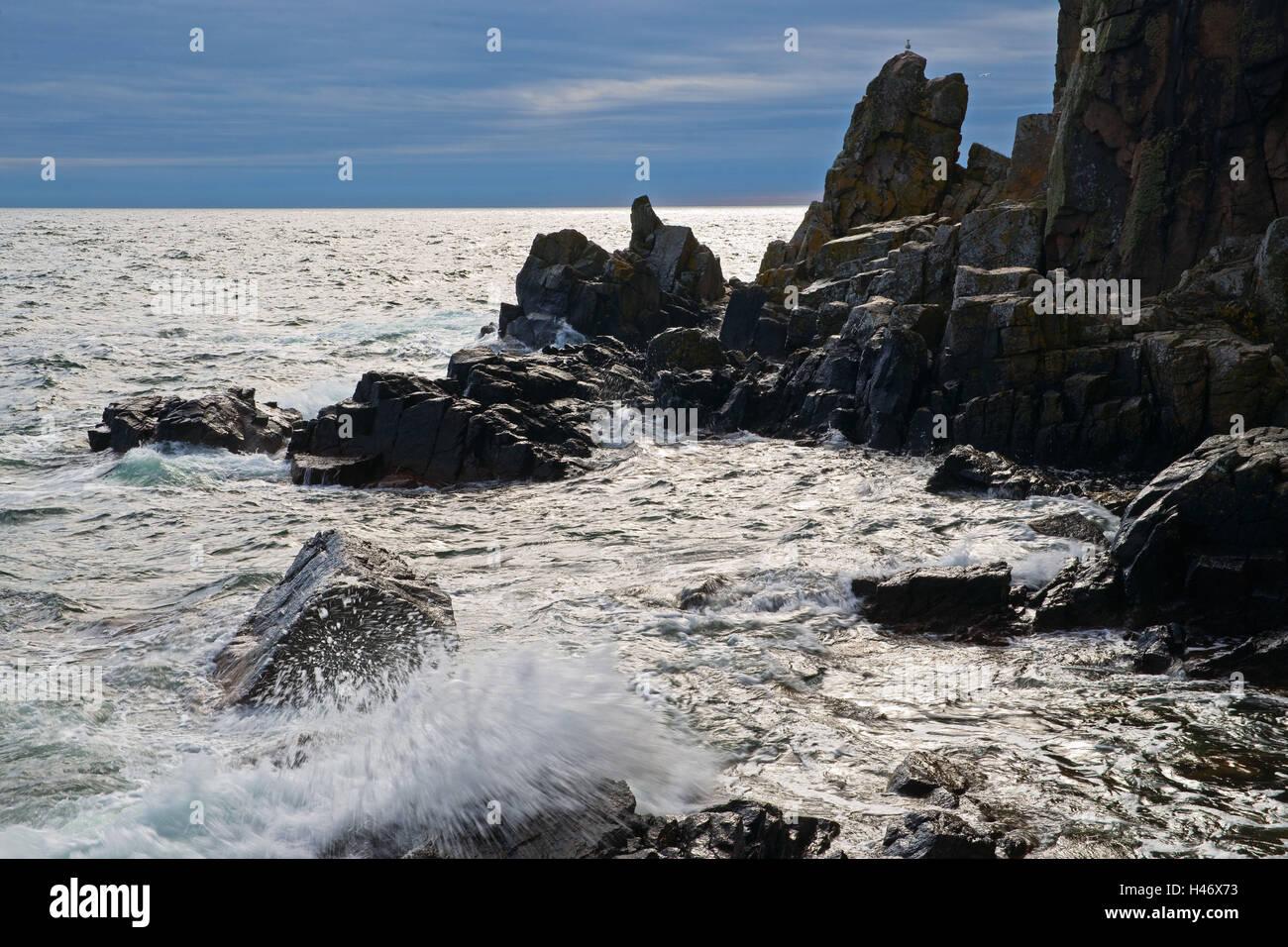 Denmark, Bornholm, sea, bile coast, - Stock Image