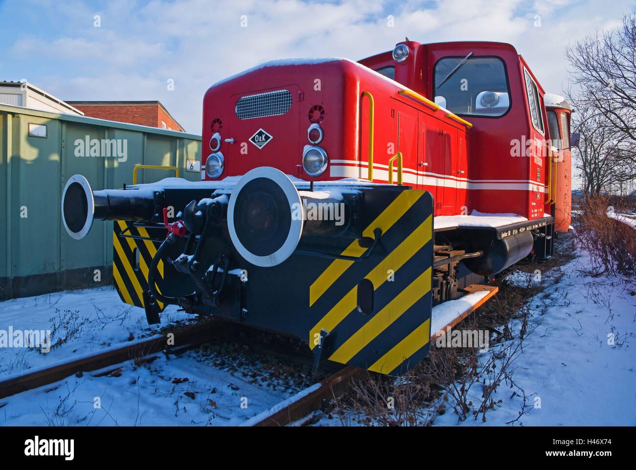Germany, Hamburg, locomotive the harbour railway, - Stock Image