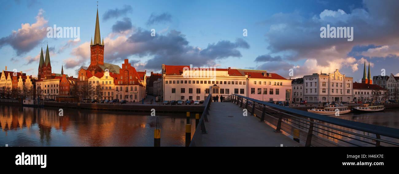Germany, Lübeck (city) Trave quarter, - Stock Image