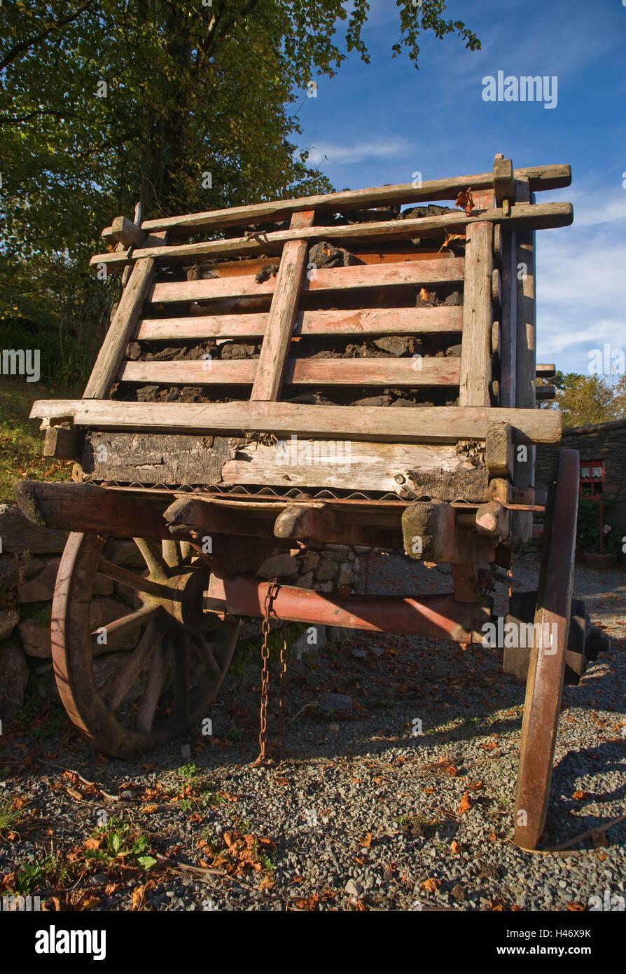 Ireland, peat carts, - Stock Image