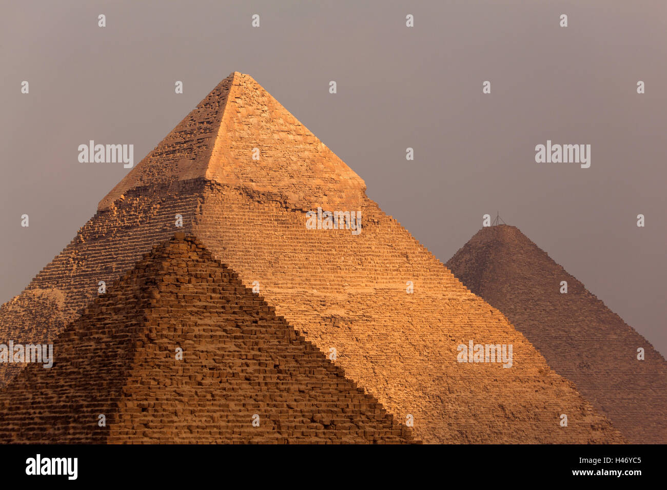 Egypt, Cairo, pyramids of Giza, - Stock Image