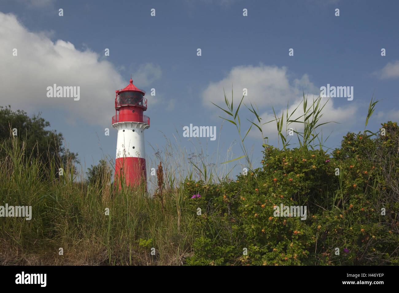 Germany, Schleswig - Holstein, region Angeln, lighthouse Falshöft, Stock Photo