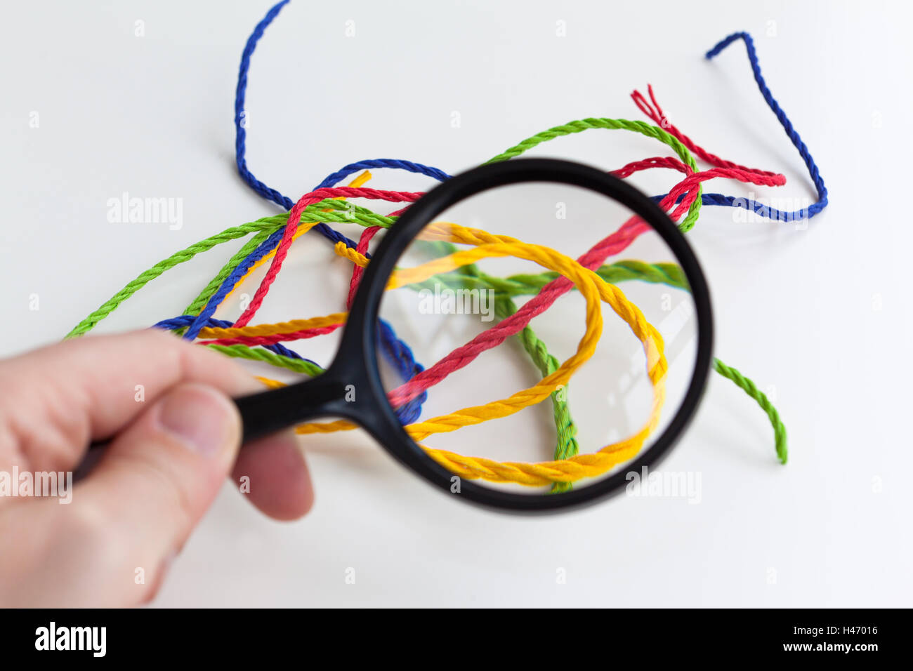 Icon picture, consideration of an entanglement, - Stock Image