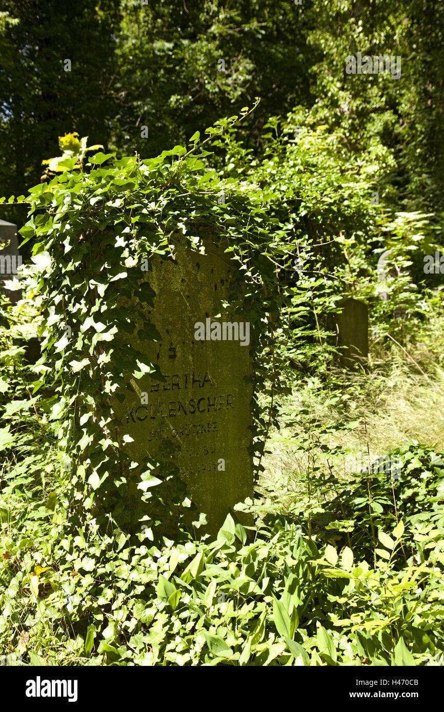 Historical, cemetery, gravestone, Judaism, - Stock Image