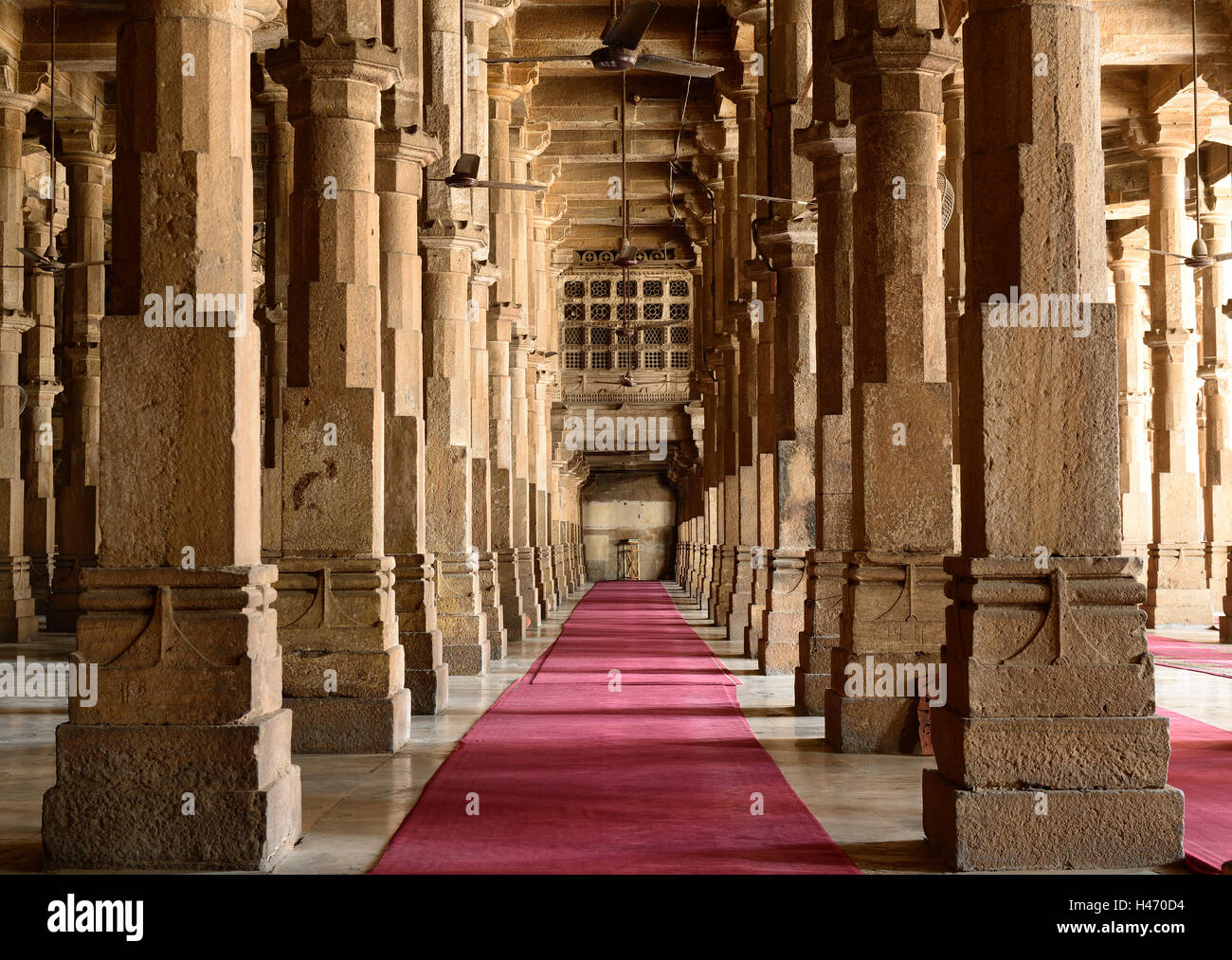 Jama Masjid mosque is the most splendid mosque of Ahmedabad city in India - Stock Image