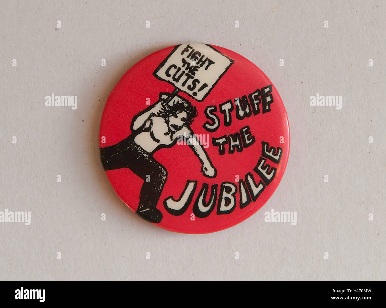 Stuff the Jubilee Fight the Cuts Socialist Works party SWP protest at cost of the Jubilee. 1977. HOMER SYKES - Stock Image