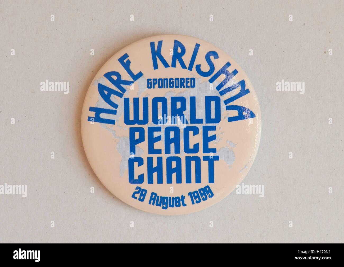 Hare Krishna sponsored World Peace Chant 28 August 1989 London Uk HOMER SYKES - Stock Image
