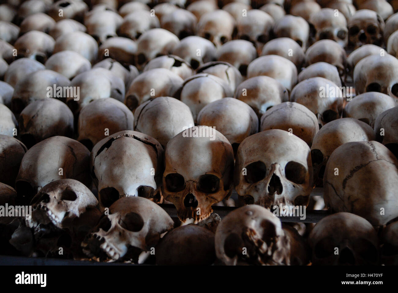 RWANDA Genocide memorial Ntarama , during the genocide in April 1994 about 5000 Tutsi people were killed by Hutu - Stock Image