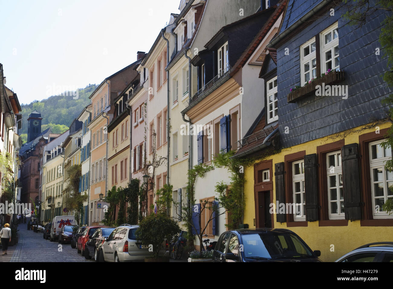 Heidelberg, old town, Große Mantelgasse, Baden-Württemberg, Germany, Stock Photo