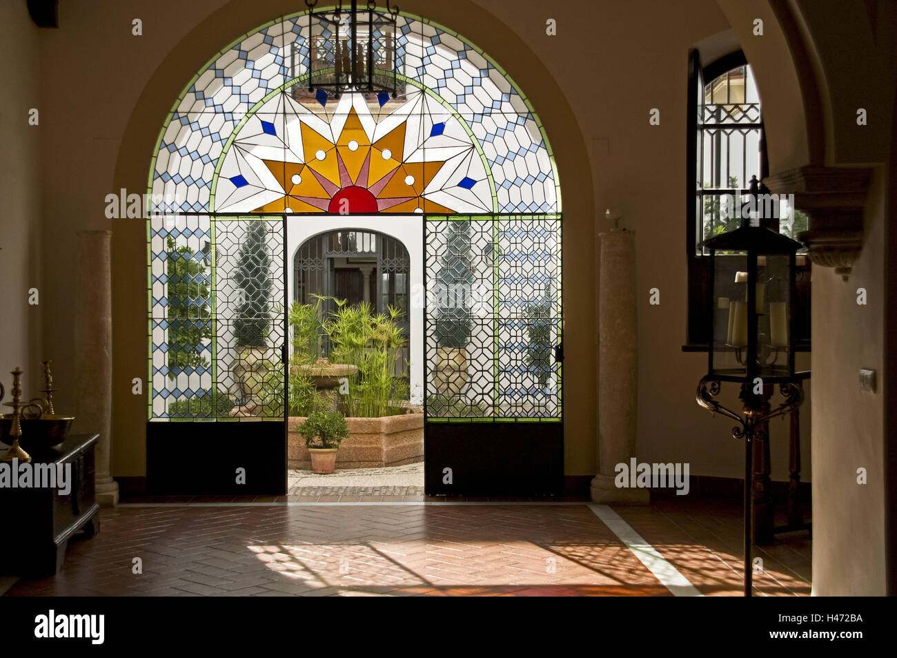 Spain Cordoba Ghetto Patio Town Juderia Building Input Goal Stock Photo Alamy