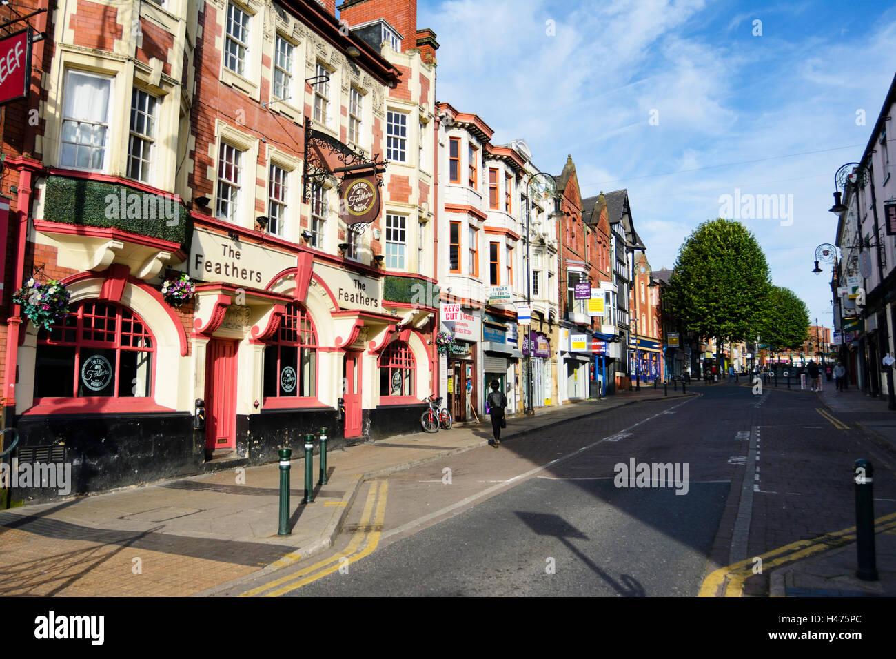 Warrington Town centre. - Stock Image