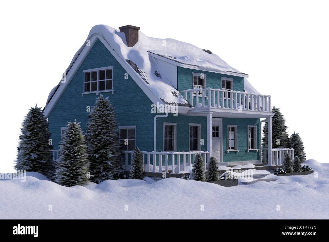 Three dimensional house - Stock Image