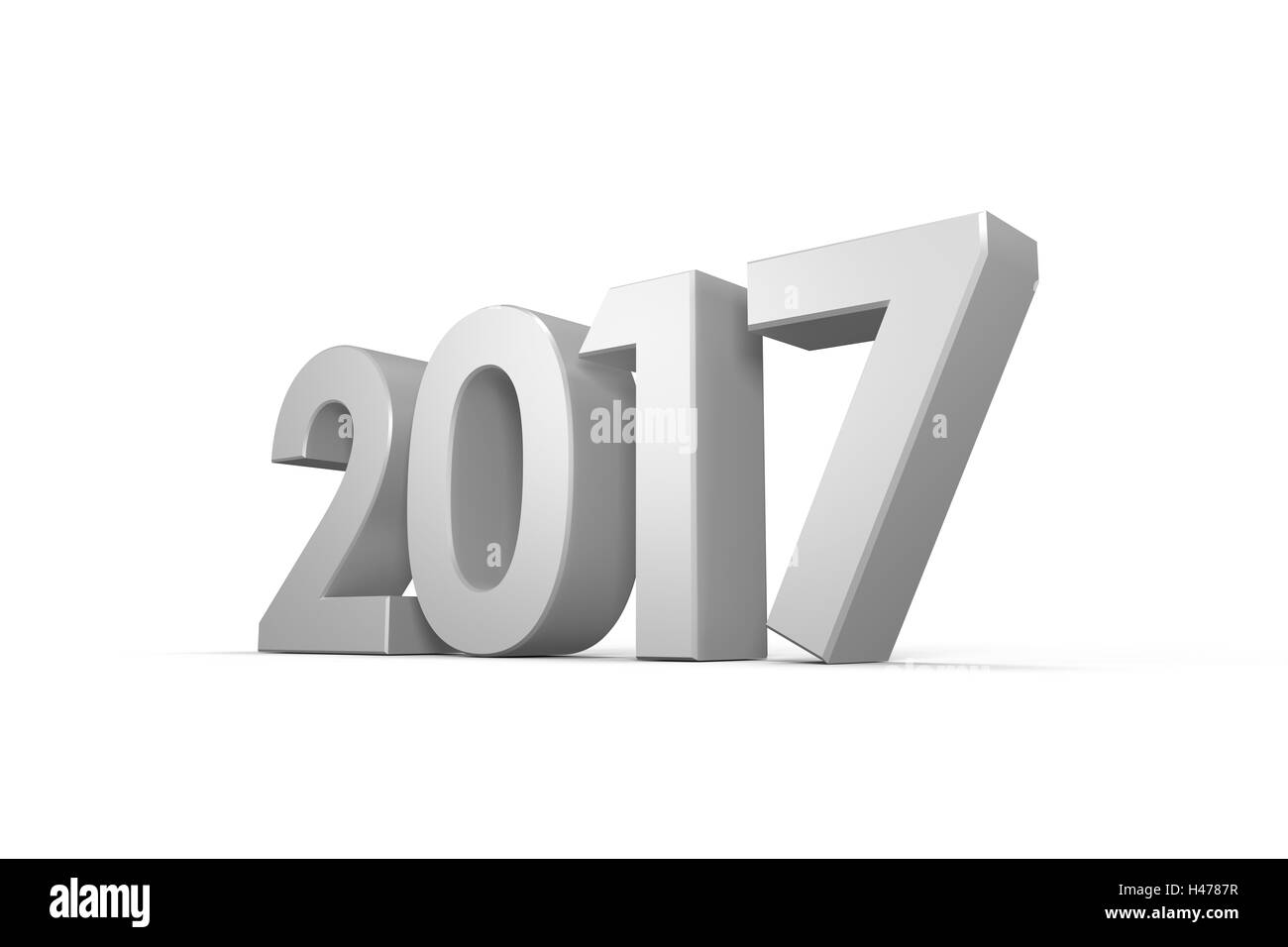 Digitally generated image of year - Stock Image