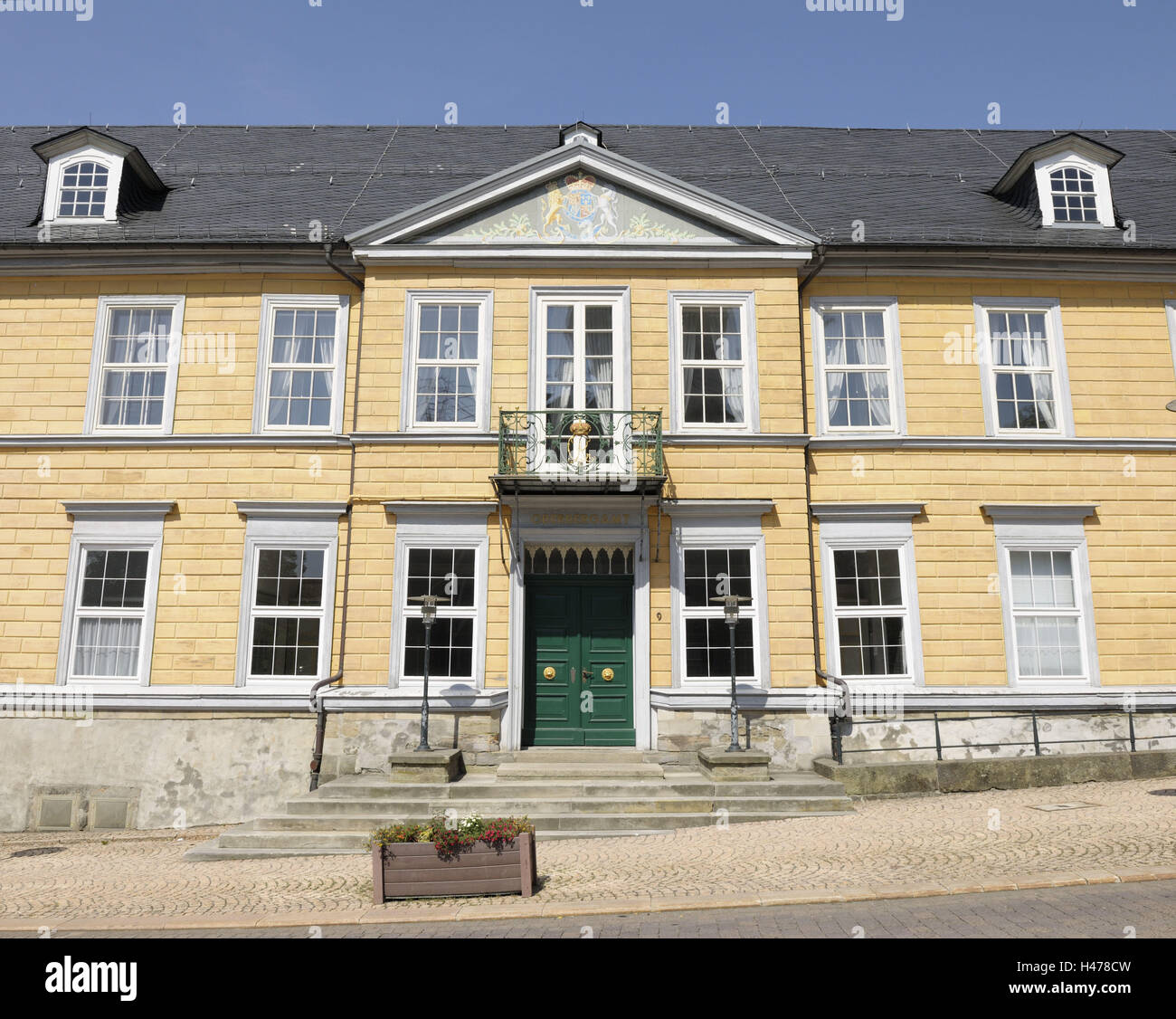 Claus's thaler office house, Clausthal-hermit monk's field, Harz, Lower Saxony, Germany, - Stock Image