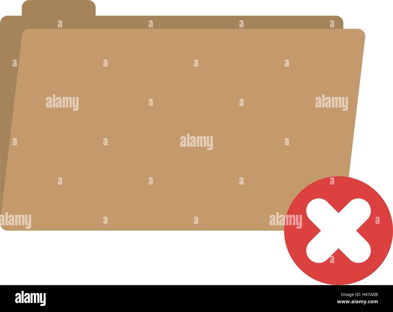 folder symbol to erased files vector illustration - Stock Vector