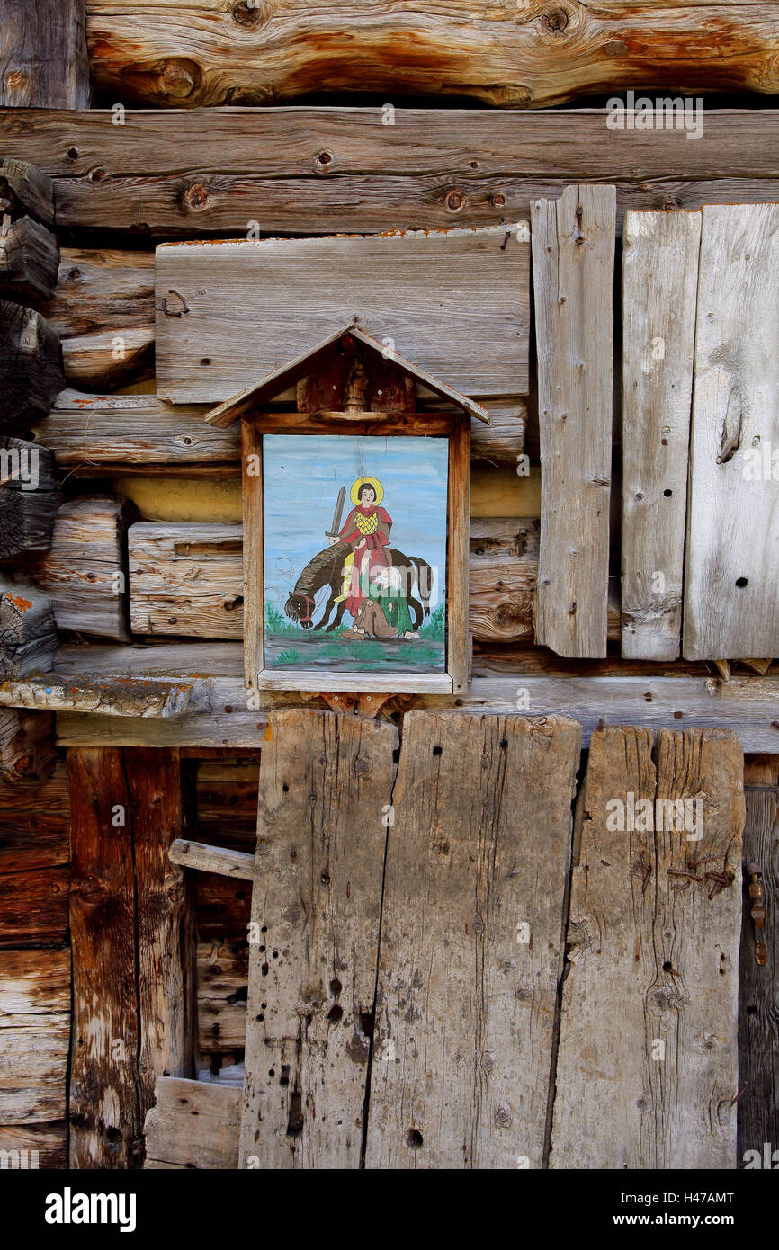 Saint Martin Darstellung as of a Marterl, - Stock Image