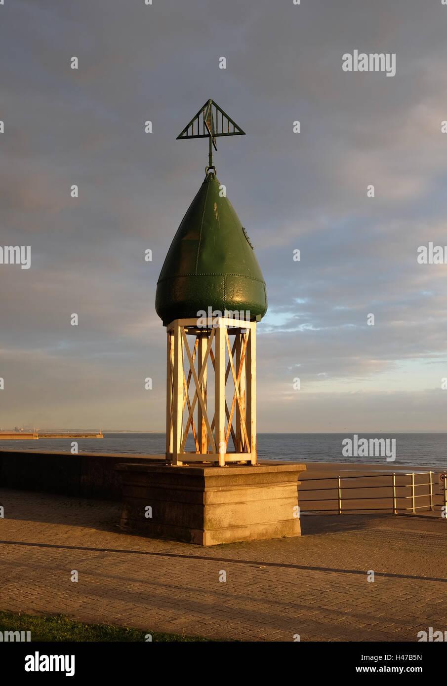 Navigation buoy sculpture, Marine Walk, Swansea - Stock Image