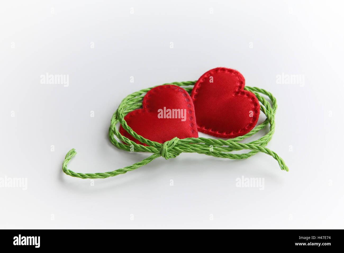 Two hearts unites, - Stock Image