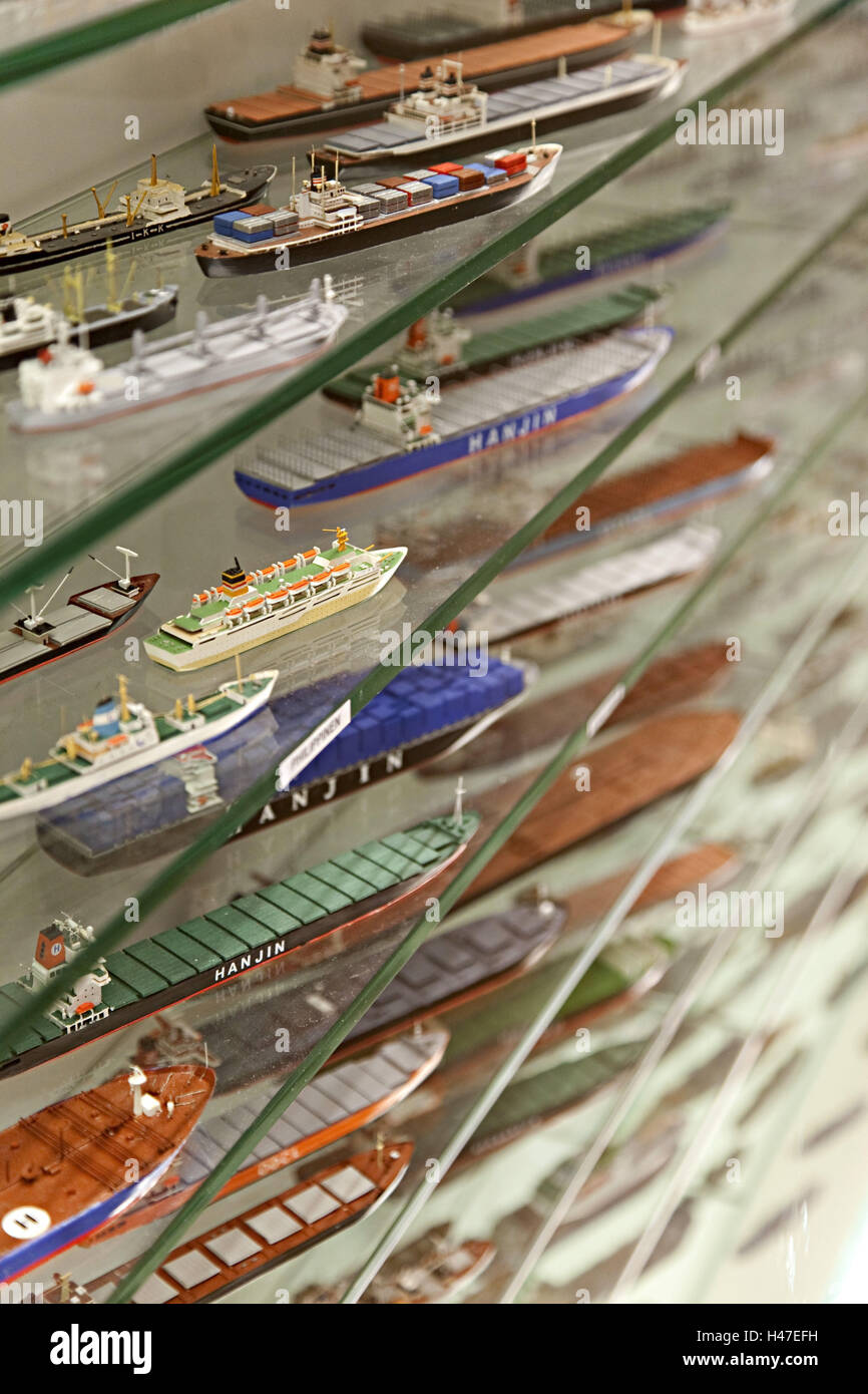 Museum, ship models, - Stock Image