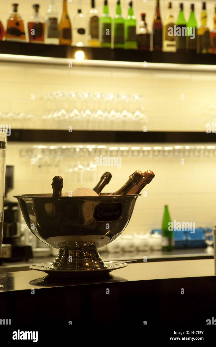 Cash, champagnes, cooled, - Stock Image
